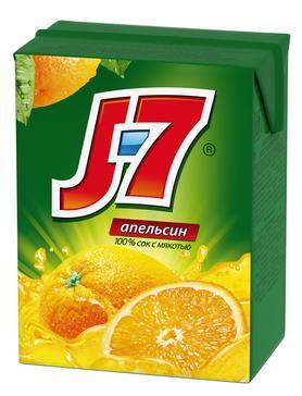 Сок «J7 Апельсиновый, 0.2 л»
