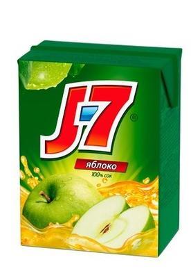 Сок «J7 Зеленое яблоко, 0.2 л»