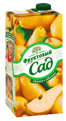 Сок «Фруктовый сад груша-яблоко, 0.95 л»