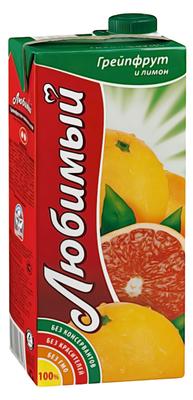 Сок «Любимый Грейпфрут-Лимон , 1 л»