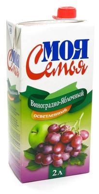 Сок «Моя Семья Яблоко-Виноград , 1 л»