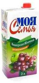 Сок «Моя Семья Яблоко-Виноград , 2 л»