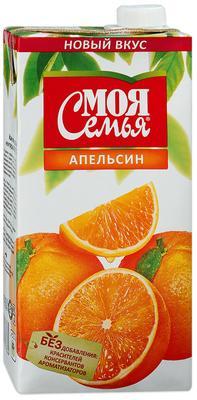 Сок «Моя Семья Апельсин , 1 л»