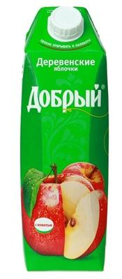Сок «Добрый деревенские яблочки , 2 л»