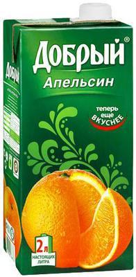 Сок «Добрый Апельсиновый, 0.2 л»