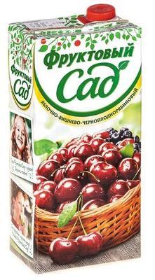 Сок «Фруктовый сад Яблочно-Вишнево-Черноплоднорябиновый, 1 л»