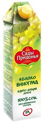 Сок «Сады Придонья Яблоко-Виноград»
