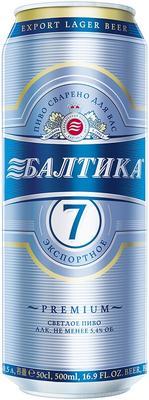 Пиво «Балтика №7 экспортное, 0.45 л» в жестяной банке