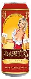 Пиво «Prazacka» в жестяной банке