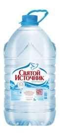 Вода негазированная «Святой Источник, 5 л» пластик