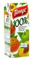 Сок «Тонус Апельсин-Яблоко-Персик»
