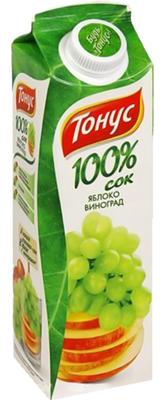 Сок «Тонус Яблоко-Виноград»
