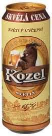 Пиво «Velkopopovicky Kozel» в жестяной банке, нефильтрованное