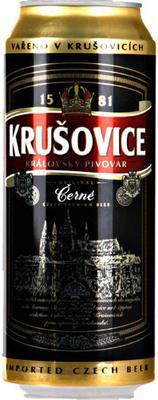 Пиво «Krusovice Temnoe» в жестяной банке