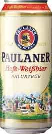 Пиво «Paulaner Hefe-Weissbier» в жестяной банке