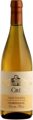 Вино белое сухое «Les Cretes Chardonnay Cuvee Bois, 0.75 л» 2013 г.