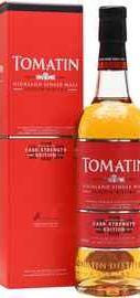 Виски шотландский «Tomatin Cask Strength» в подарочной упаковке