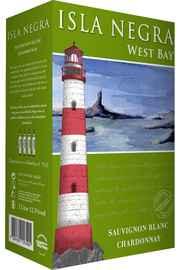 Вино белое полусухое «Isla Negra West Bay Sauvignon Blanc - Chardonnay, 3 л» 2015 г.