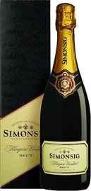 Вино игристое белое брют «Simonsig Kaapse Vonkel Brut» 2012 г., в подарочной упаковке