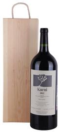 Вино красное полусладкое «Kurni» 2012 г.  в деревянной коробке