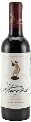 Вино красное сухое «Chateau d'Armailhac Pauillac Grand Cru Classe, 0.75 л» 2009 г.