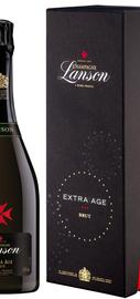 Шампанское белое брют «Lanson Extra Age» в подарочной упаковке
