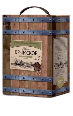 Вино столовое белое полусладкое «Крымский винный завод Крымское, 3 л»