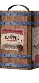 Вино столовое красное полусладкое «Крымский винный завод Каберне, 3 л»