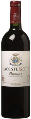 Вино красное сухое «Lacoste-Borie» 2012 г.