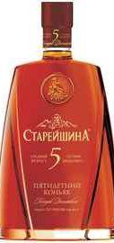 Коньяк российский «Старейшина Пятилетний» +2 бокала