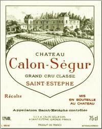 Вино красное сухое «Chateau Calon Segur Saint-Estephe 3-me Grand Сru» 1995 г.