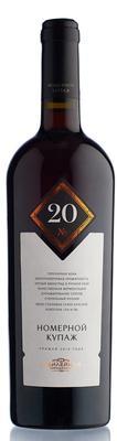 Вино красное сухое  «Купаж №20» географического наименования