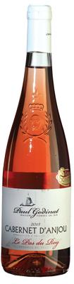 Вино розовое полусладкое «Paul Godinat Cabernet d'Anjou» вино с защищенным наименованием места происхождения региона Каберне Д'Анжу