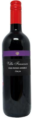 Вино столовое красное полусладкое «Villa Francesca»