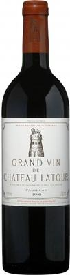 Вино красное сухое «Chateau Latour» 1990 г.