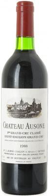 Вино красное сухое «Chateau Ausone» 1988 г.
