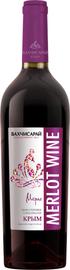 Вино столовое красное сухое «Бахчисарай Мерло»