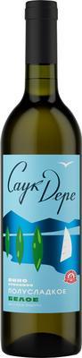 Вино столовое белое полусладкое «Саук-Дере»