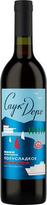 Вино столовое красное полусладкое «Саук-Дере»