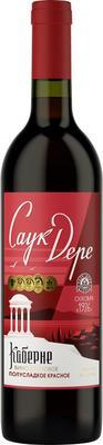 Вино столовое красное полусладкое  «Саук-Дере Каберне»