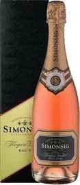Вино игристое розовое брют  «Simonsig Kaapse Vonkel Brut Rose» в подарочной упаковке