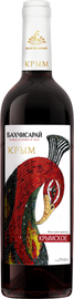 Вино столовое красное сухое «Бахчисарай Крымское»
