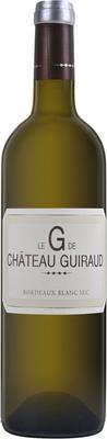Вино белое сухое «Le G de Chateau Guiraud» 2015 г.