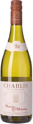 Вино белое сухое «Domaine des Malandes Chablis» 2015 г.