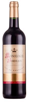 Вино красное сухое «Monologue Bordeaux Rouge»
