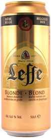 Пиво «Leffe Blonde» в жестяной банке