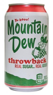 Вода «Mountain Dew Throwback»