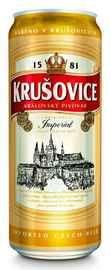 Пиво «Krusovice Imperial» в жестяной банке