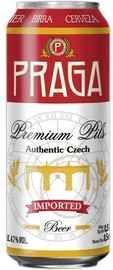 Пиво «Praga Premium Pils» в жестяной банке