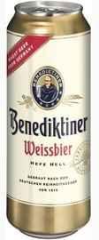 Пиво «Benediktiner Weissbier» в жестяной банке